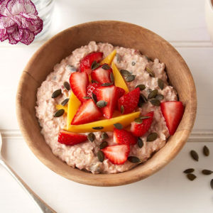 Strawberry Mango Bircher Muesli Square